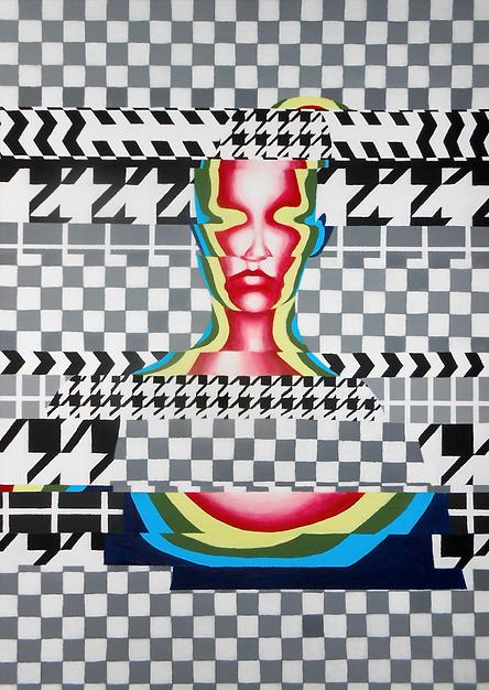 Damage patterns, akryl na plotnie, 50 x