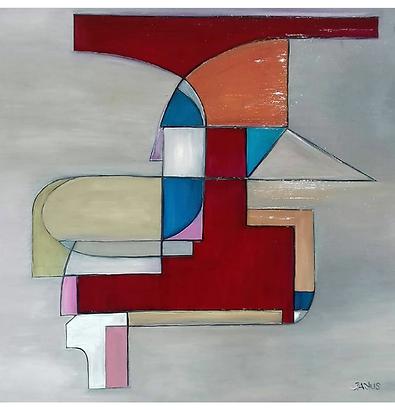 Paweł Janus 49,5 x 50 farby olejne  komp