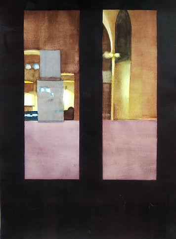 Warm_interior_30x40cm_watercolor Karpiel