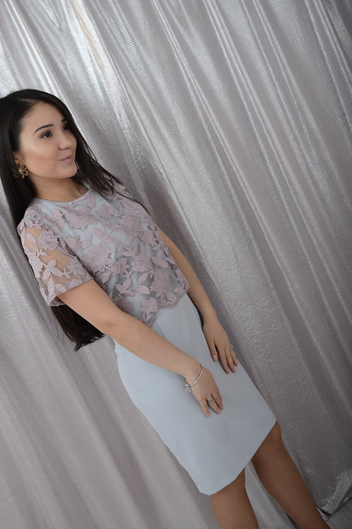 Платье розовое кружево