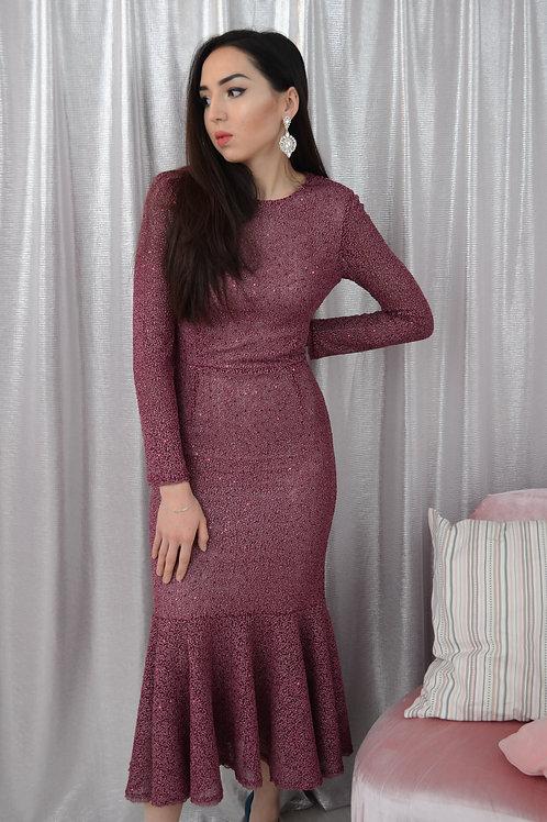 Платье вино