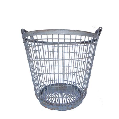 Vintage Galvanized Metal Potato Basket