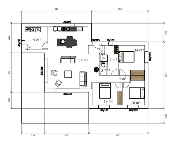 Maison de 115 m2