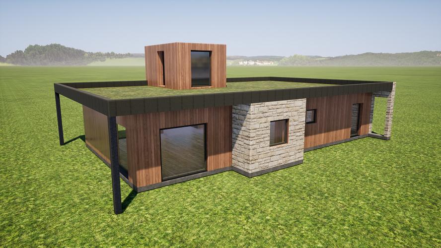 Maison en bois & en pierre
