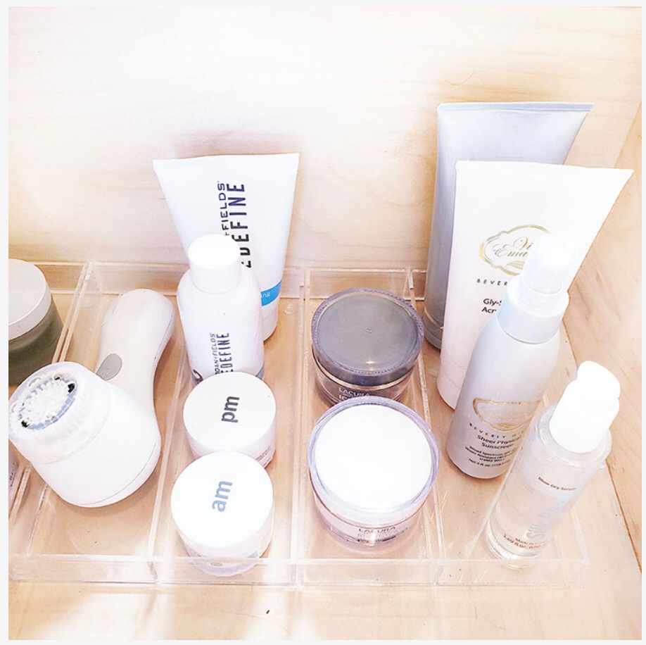skin products organzier