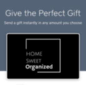 Home Sweet Organized in Lafayette,LA Gift Card