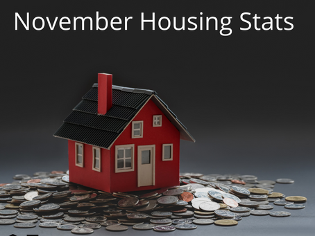 Check out November's housing stats compared to year last year's