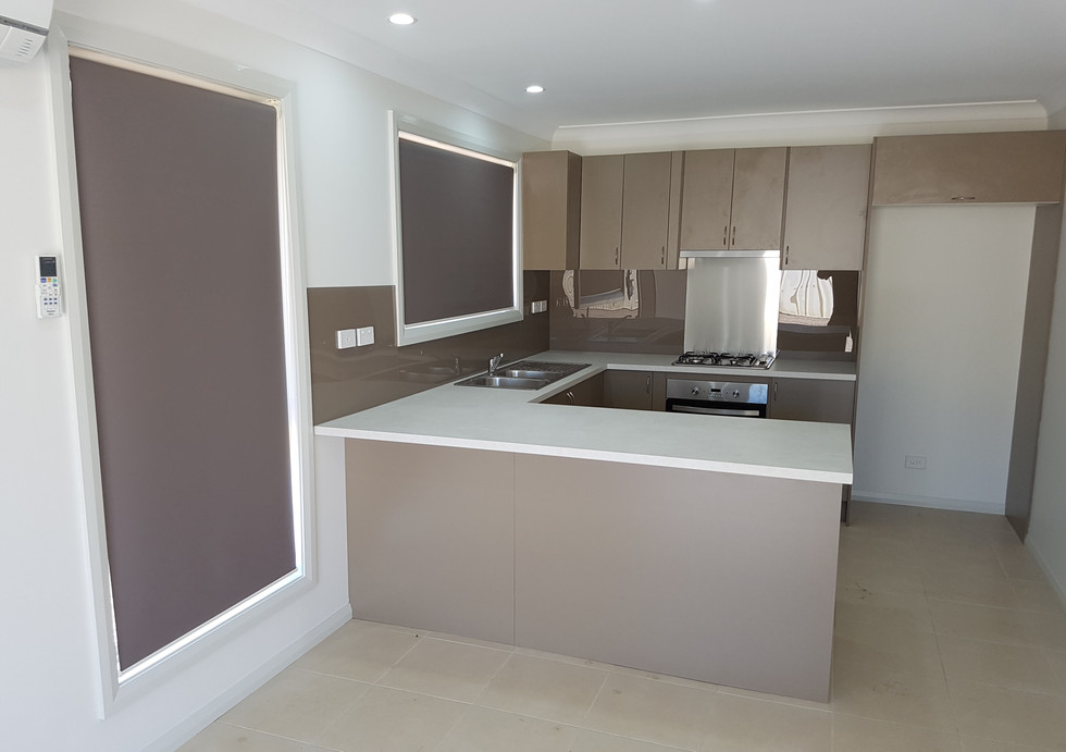 Roller Blinds and Kaboodle Kitchen