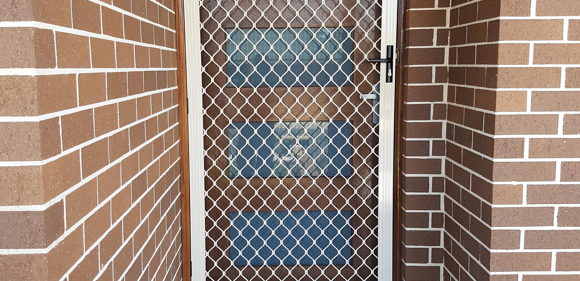 Diamond Grille Flyscreen Barrier Door