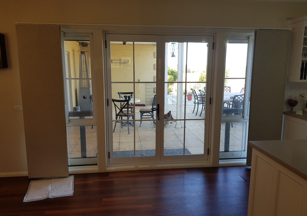 Panel Glides to French Hinged Doors