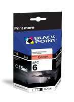 BLACK POINT Wkład CANON BCI-6BK Czarn 15ml  xtk051