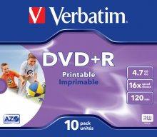 Płyta DVD+R jewel case 10 4.7GB 16x nadr.    xc208