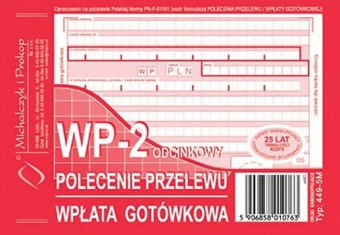 Polecenie Przelewu A6 80 kartek   drk081