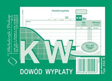 KW Dowód Wypłaty A6 80 kartek   drk070