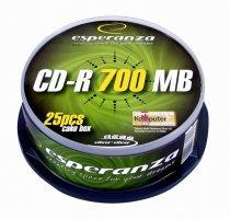 CD-R ESPERANZA Silver - Cake Box 25      xc 405
