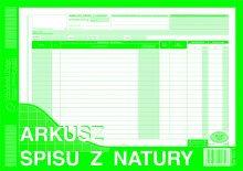 Arkusz spisu z natury  (uniwersalny) A4 50k. dr278
