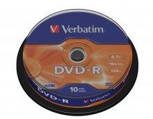 Płyta DVD-R cake box 10 4.7GB 16x Matt S.   xck073