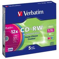 Płyta CD-RW slim jewel case 700MB 12x       xck018
