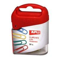 Spinacze kolorowe 50szt.APLI   spk029