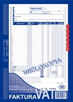 Faktura VAT (w cenach netto) A4 80 kartek   drk043