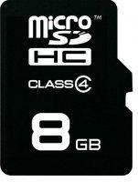 Karta MicroSDHC z adapt. SD 8GB Class 4 xuk007