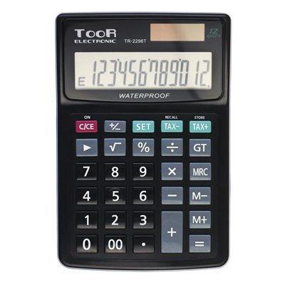 Kalkulator TOOR TR-2296- 12 poz.- wodoodp. kkk079