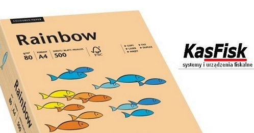 Papier xero kolor Rainbow łososiowy  ppk143