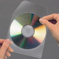 Samoprzyl. kieszeń na CD z zamk. 3L 127x127 obk219