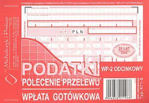 Podatki Polecenie Przelewu A6 80 kartek drk082