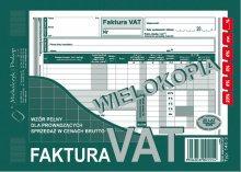 Faktura VAT (wzór pełn-brutto) A5 80 k. dr 249