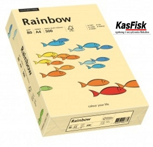 Papier xero kolor Rainbow kość słoniowa   ppk167