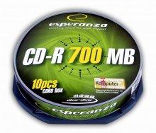 CD-R ESPERANZA Silver - Cake Box 10     xc 406