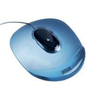 Podkładka żelowa pod mysz przezr/niebieski  xak040