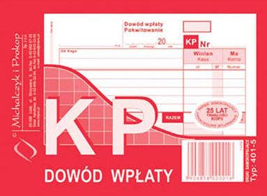 KP Dowód Wpłaty  A6 80 kartek   drk069
