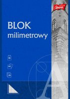 Blok z papieru milimetrowego A4, 20k.       bl 004