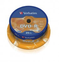 Płyta DVD-R cake box 25 4.7GB 16x Matt S.   xck033