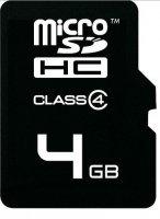 Karta MicroSDHC z adapt. SD 4GB Class 4 xuk006