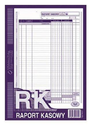 Raport Kasowy  A4 80 kartek  drk072