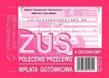 ZUS - Polecenie Przelewu A6 80 kartek  dr 264