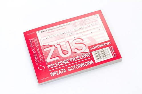 ZUS - Polecenie Przelewu A6 80 kartek drk079