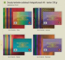 Zeszyt kartonów ozd.holograf.A4 190gr-1  zz 724