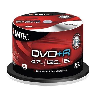 Płyta EMTEC DVD+R (25) 4.7GB x21 Cake Box   xck029