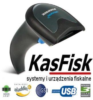 Czytnik DATALOGIC USB QSLite z podstawką czarny  QW2100