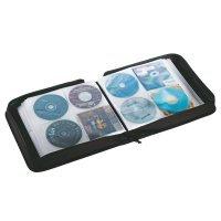 Pokrowiec na 192 CD/DVD, bordowy/czarny    xz 158