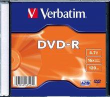 Płyta DVD-R slim jewel case 4,7GB 16x       xck002