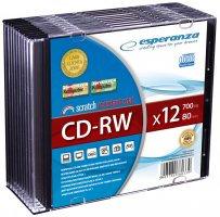 CD-RW ESPERANZA x12 - Slim 1szt         xc 445