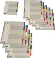 Przekładki BANTEX A5 5 kolorów PP           prk060