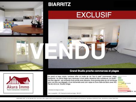 VENDU Grand Studio à BIARRITZ Saint-Charles