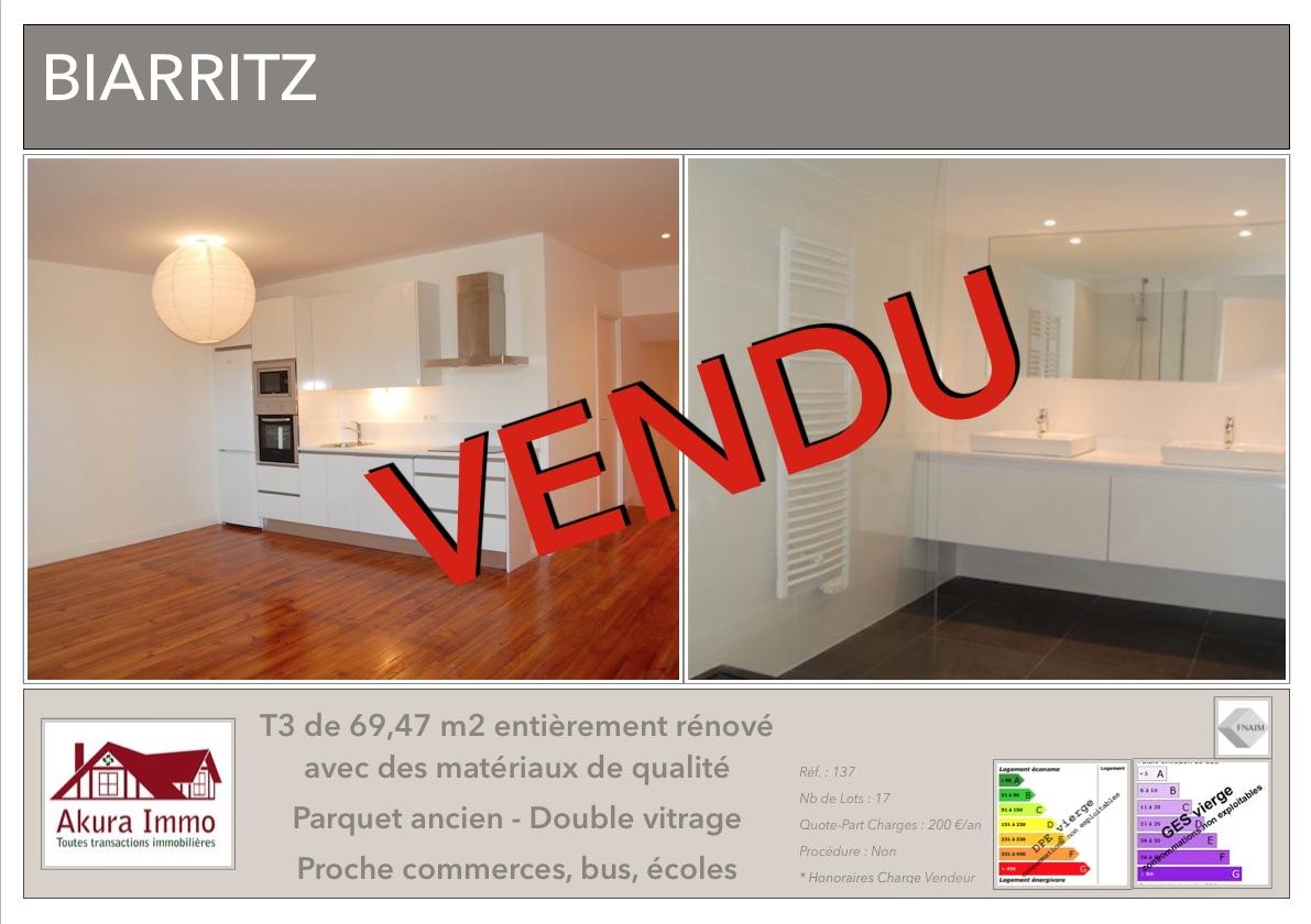 VENDU T3 Biarritz