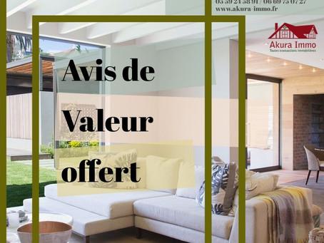 Avis de Valeur offert chez Akura Immo